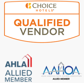 Choice Hotels Qualified Vendor and Approved member of AHLA and AAHOA